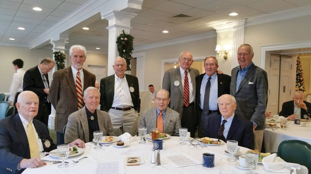 vmi alumni sitting around table