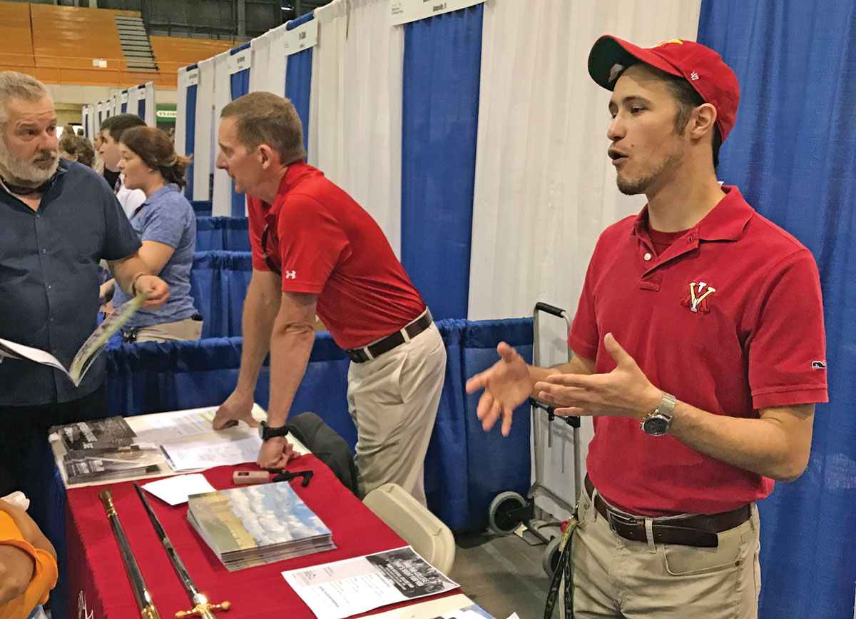 Tampa alumni at chapter booth